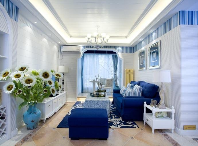 成都装修网,成都装修,成都装修公司成都装修公司,馨居尚装饰蓝白相间-地中海风格
